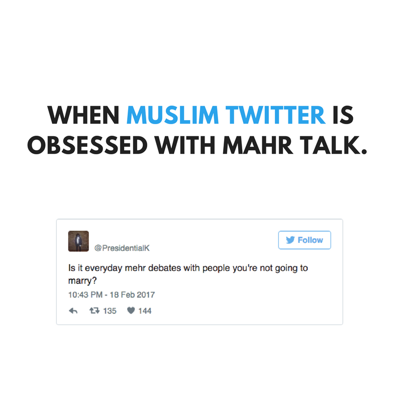 When Muslim Twitter is obsessed with mahr.