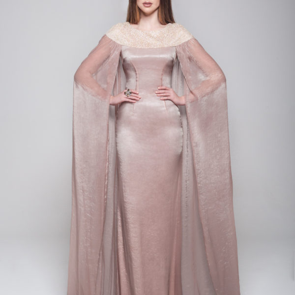 The Nura Silk Cape Dress, £169.99