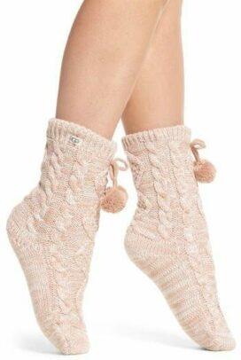 Pom Pom Fleece Lined Socks