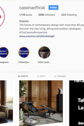And I'm obsessed with following Cassina on Instagram and drooling