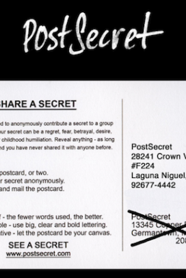 I love checking the website every Sunday for new post card secrets. Feels old fashioned having to wait week to week somehow!