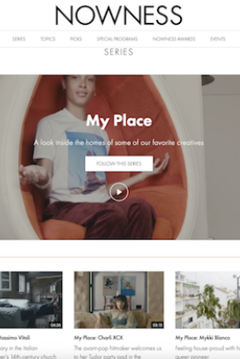 My Place onNowness is one of the best things ever