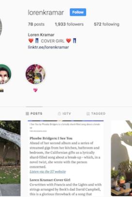 Loren Kramar's instagram (puppet show content specifically)