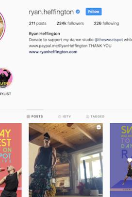 Ryan Heffington Live Streaming Dance Class