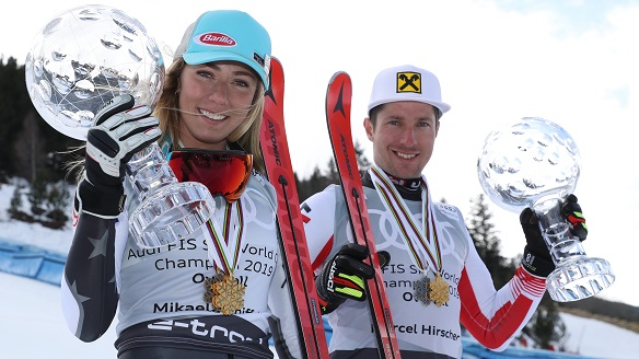 Amazing season for Team Atomic: Four World Cup titles for Shiffrin, three for Hirscher