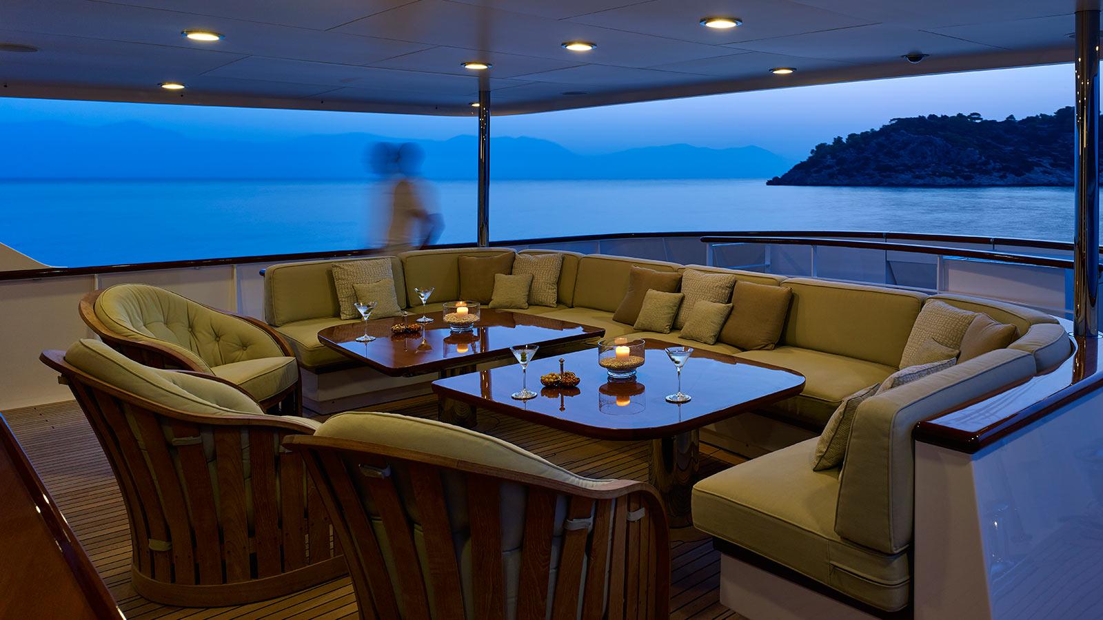 Ancallia yacht interior