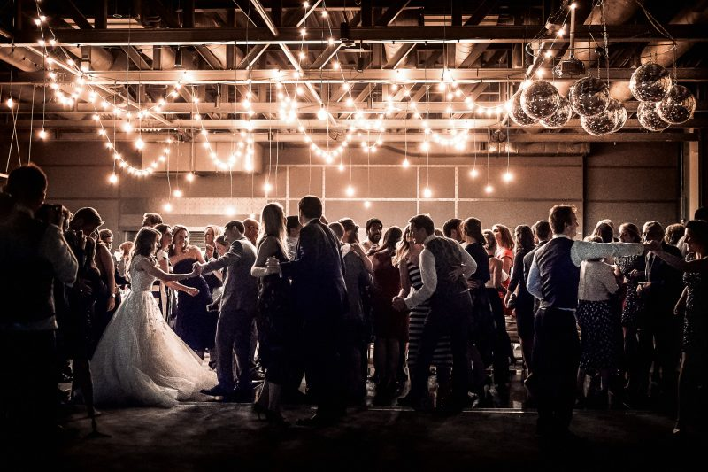 Dancing in the Rum Warehouse at a Titanic Hotel wedding in Liverpool