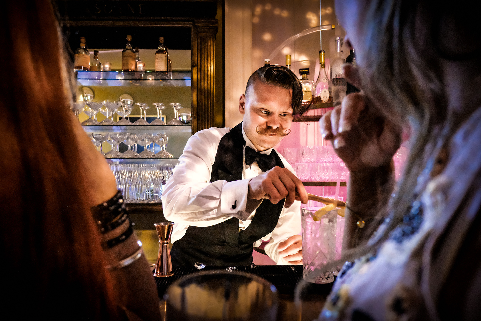 Cocktail Mixologist Entertainment at Wedding