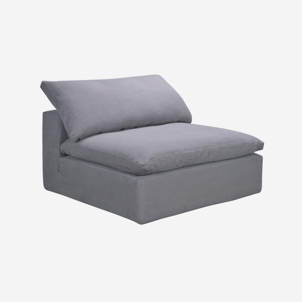 Truman_Armless_Section_Grey_Linen_angle_
