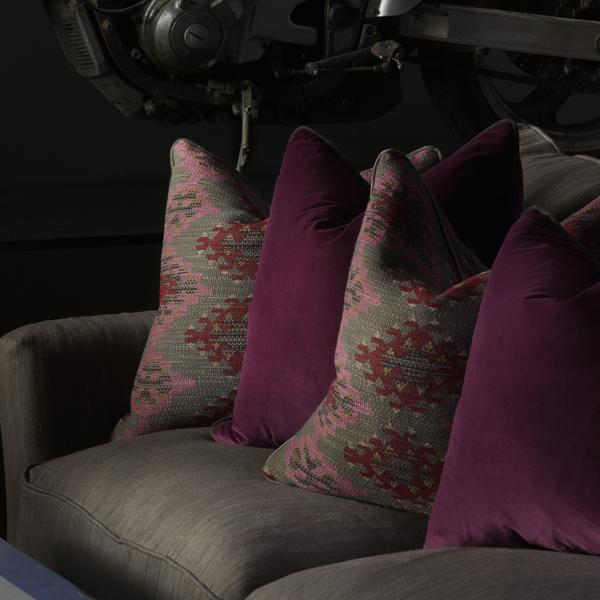 Cadogan_Sofa_in_Hanabana_Smoke_with_Cushions_in_Orillo_Brick_and_Caraiva_Beetroot