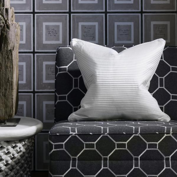 Biography_Grey_Wallpaper_Brompton_single_unit_chairs_in_Mondrian_Charcoal_with_cushion_in_Boudin_Ivory_lifestyle_Close_Up_