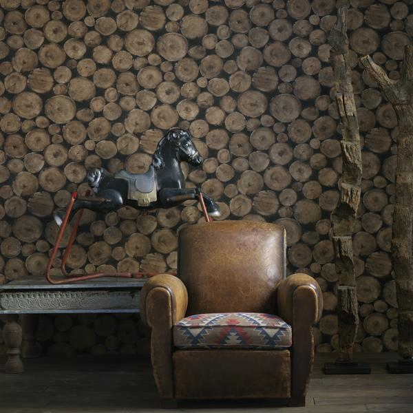Lumberjack_Timber_wallpaper_seat_cushion_in_Tomahawk_Brick_fabric_Lifestyle