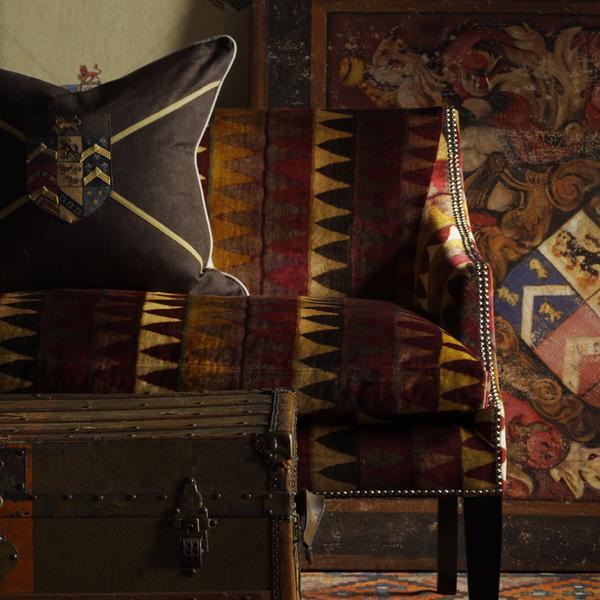Cushion_in_Ancestor_Charcoal_Fabric_Ladder_Brick_Fabric_on_Leto_Sofa_Hastings_Cream_Multi_Wallpaper_Lifestyle