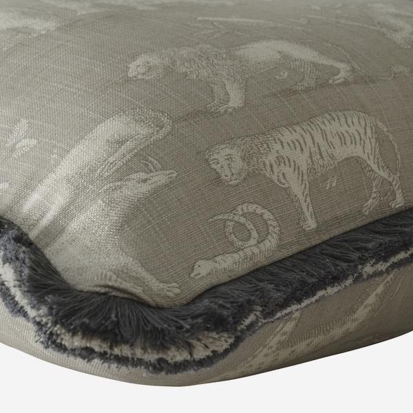 Kingdom_Canvas_Cushion_with_Charcoal_White_Linen_Fringe_Trim_Detail