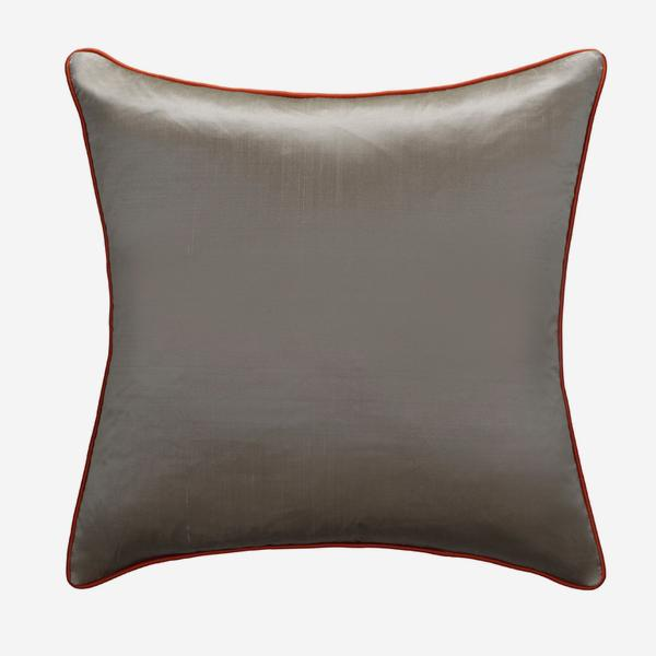 Markham_Silver_Cushion_with_Tangerine_Piping