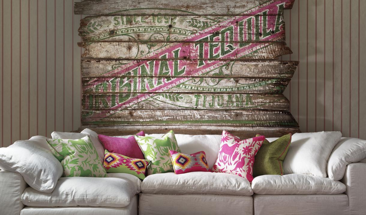 Ric_Rac_Carnival_wallpaper_Truman_in_white_linen_with_scatter_cushions_in_Maya_Cactus_Maya_Paraiso_Cruz_Cactus_Cruz_Paradise_Palazzo_Moss_and_Palazzo_Parasol