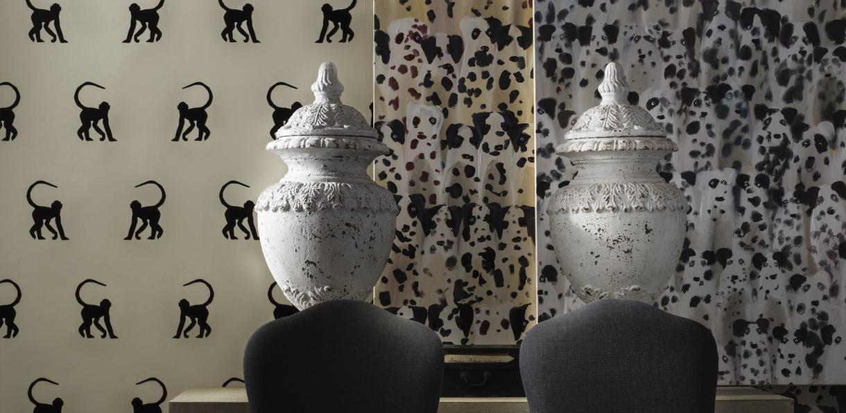cheeky_monkey_ebony_wallpaper_cecile_dining_chairs_mabel_console_table