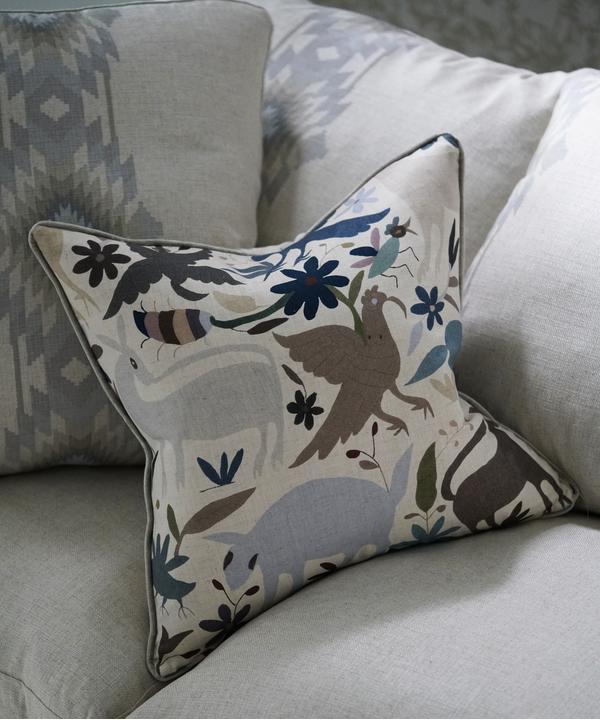 Truman_in_Cruz_Desert_fabric_with_scatter_cushion_in_Tiki_Tiki_Desert_fabric