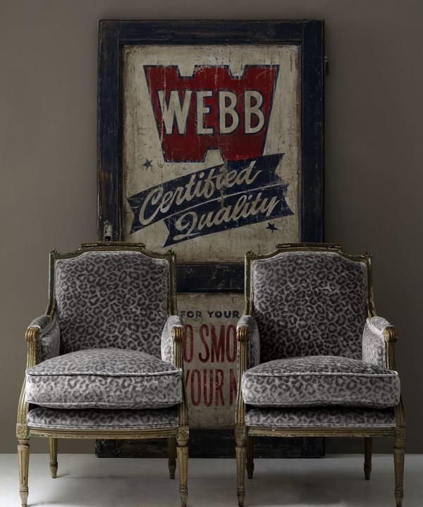 Antique_chairs_upholstered_in_Divina_Silver_Leopard_velvet