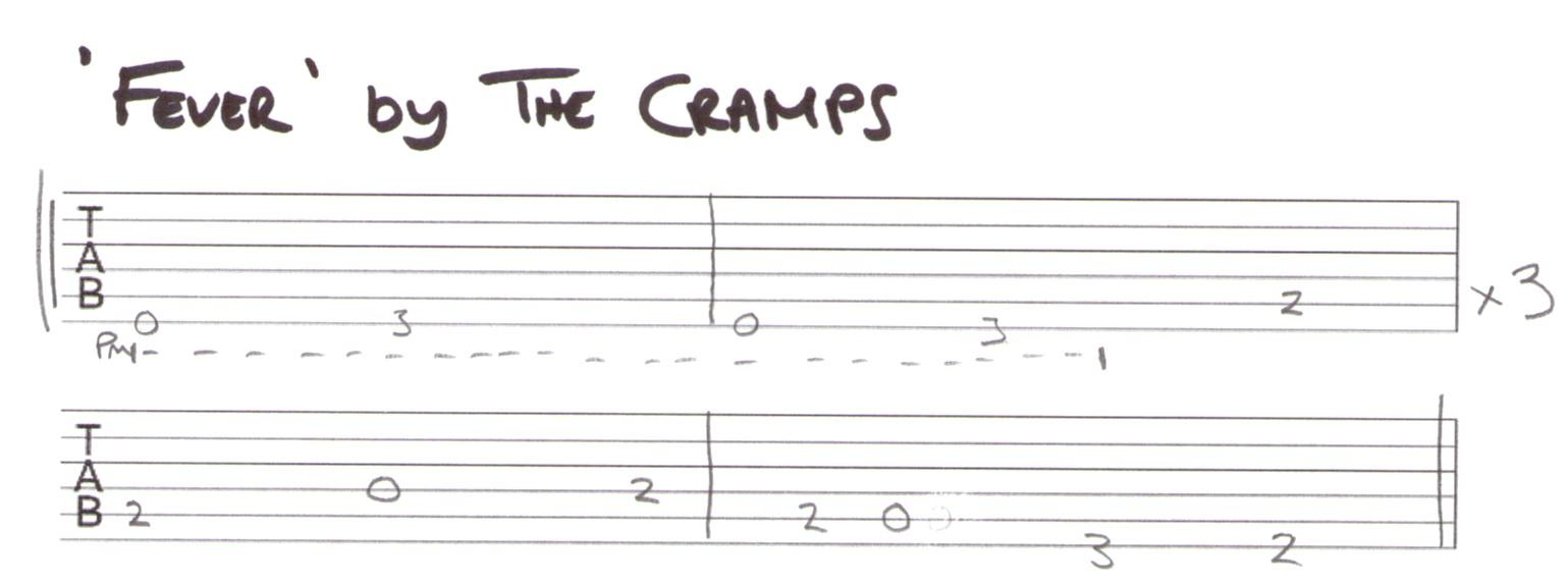 Fever by The Cramps TAB