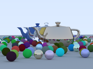 Addition of triangular-based meshes in the form of the Utah Teapot