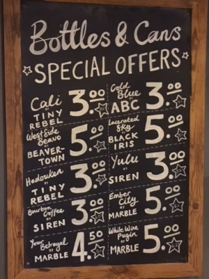 Special Offers - Bottles and Cans