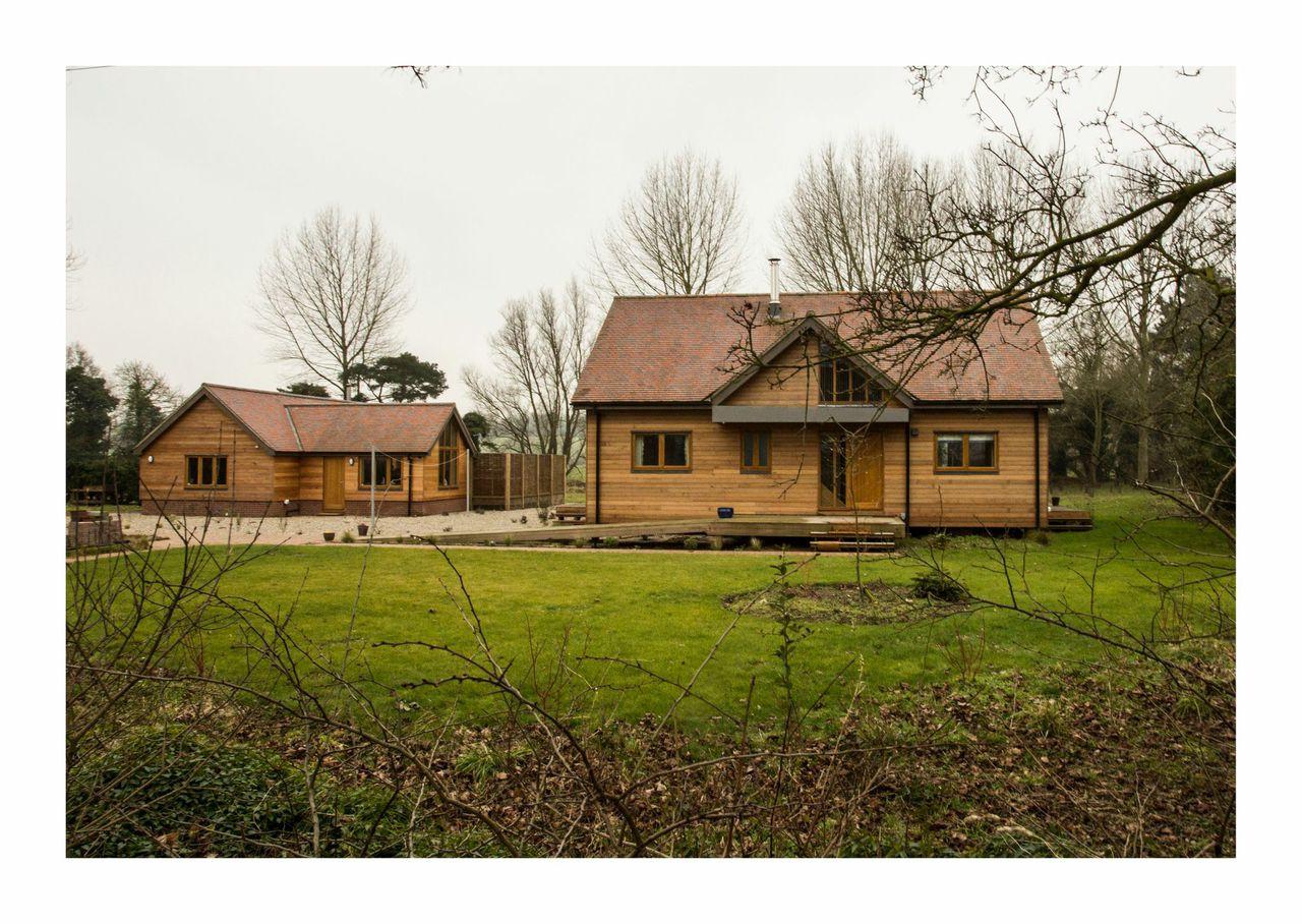 Our lodges built for Futuristic Homes - Pond Lane, Holton.