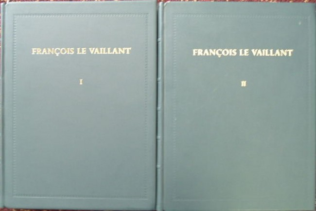 Francois Le Vaillant: Traveller in South Africa and His Collection of 165 Water-Colour Paintings, 1781-1784. Two Volumes in FULL LEATHER