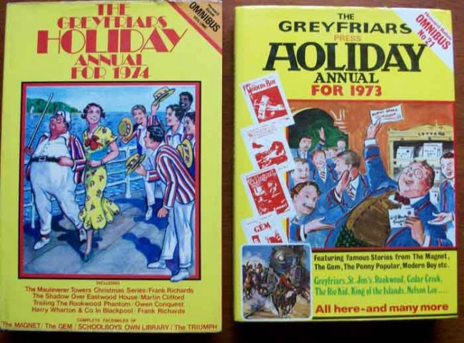 The Greyfriars Holiday Annuals for 1973 and 1974 2 Volumes
