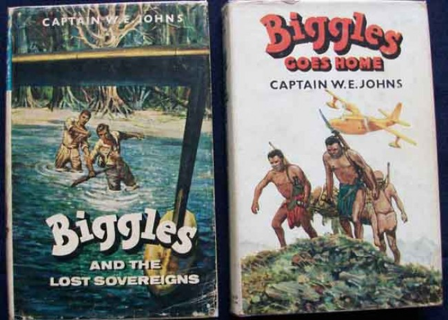 Biggles and the Lost Sovereigns and  Biggles Goes Home- 2 Volumes