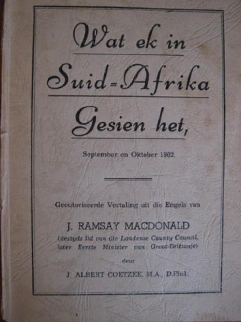 Wat ek in Suid-Afrika Gesien het, September en Oktober 1902 (1941)