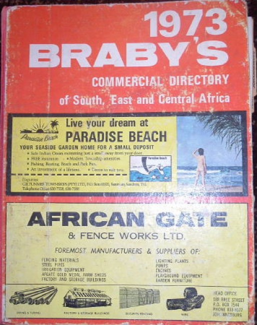 Braby\'s Commercial Directory of South, East and Central Africa, 1973