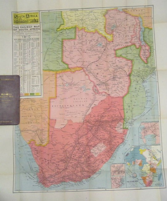 """The """"South Africa"""" Railway Map of Southern Africa, 1910"""