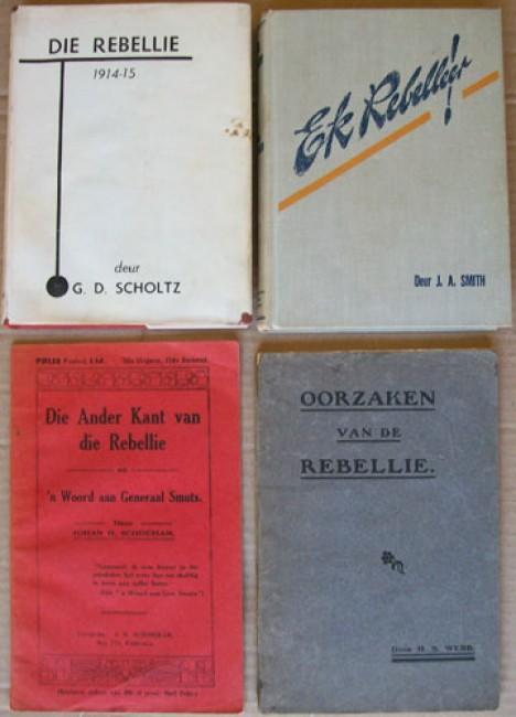 4 items - theme of Boer rebellion -  3 items  1914 rebellion and 1 item the Cape Boer rebellion