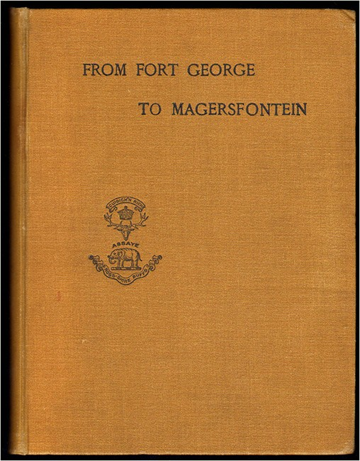 FROM FORT GEORGE TO MAGERSFONTEIN (Boer War rarity)