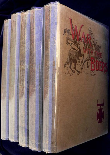 WAR WITH THE BOERS - 1902. Complete set of  5 Vols