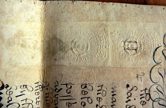 1718 Indenture Document Three Century Old Calligraphy On