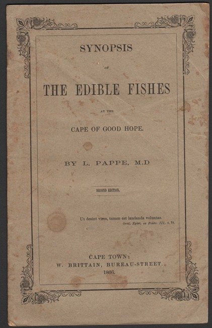 SYNOPSIS OF THE EDIBLE FISHES, at the Cape of Good Hope