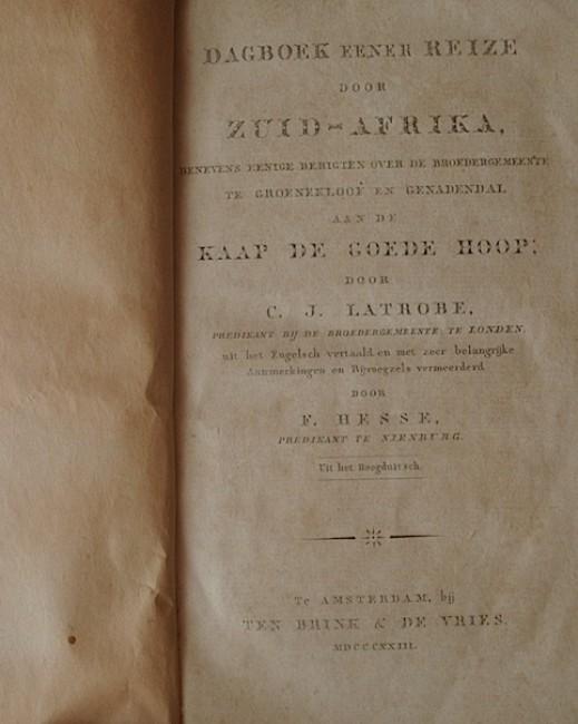 Dagboek Eener Reize Door Zuid-Afrika (1823)
