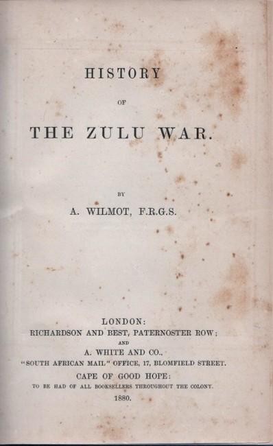 HISTORY OF THE ZULU WAR.