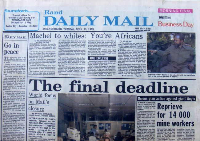 Rand Daily Mail (Final Edition)