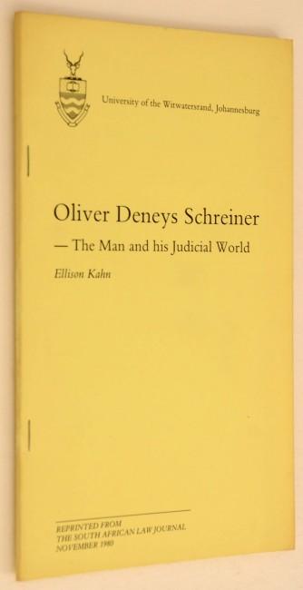 Oliver Deneys Schreiner - Two Fine Pamphlets