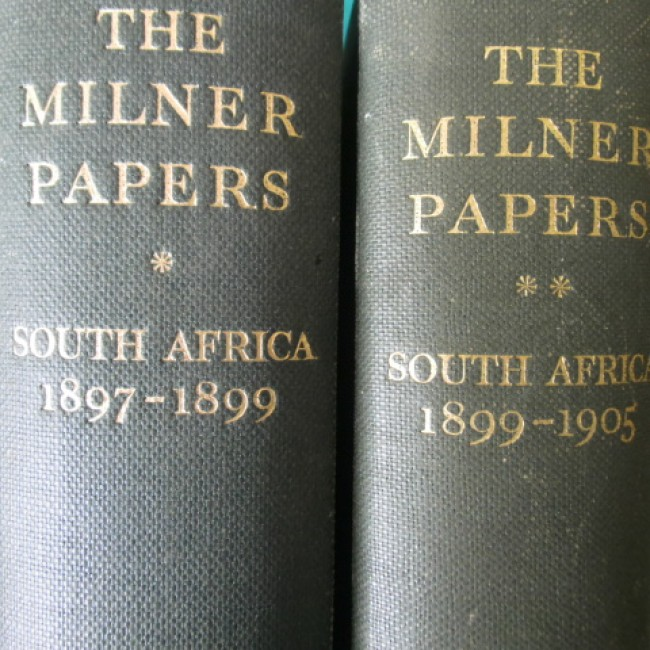 The Milner Papers (2 vols: South Africa 1897-1899 and South Africa 1899-1905)