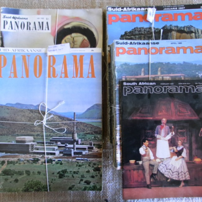 Suid-Afrikaanse Panorama (South African government illustrated monthly) 1957-1984 (unbound and incomplete)