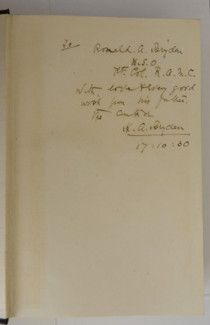 Enchantments of The Field - H.A. Bryden - Important Association Copy  Inscribed to his Son.
