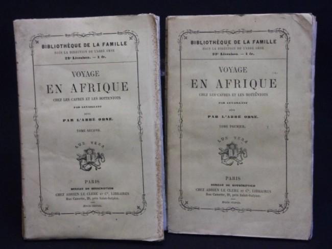 VOYAGE en AFRIQUE chez Les CAFRES et Les HOTTENTOTS (1857; 2 volumes)