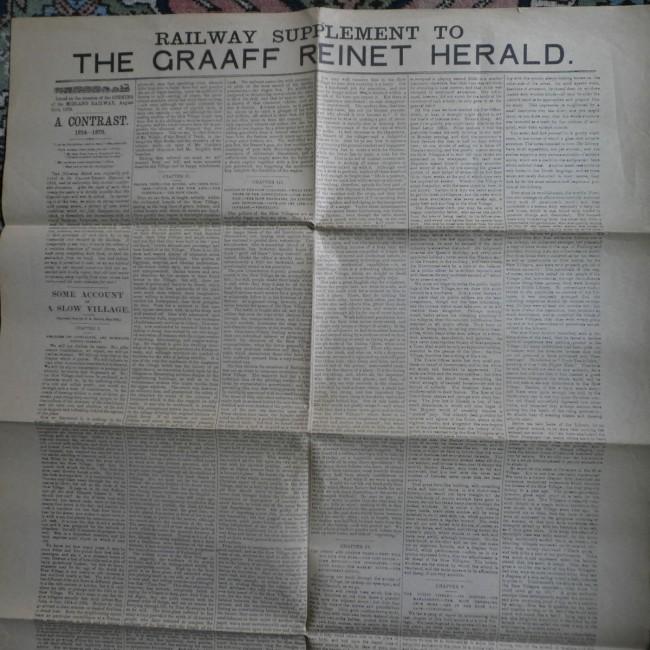 Railway Supplement to the Graaff Reinet Herald