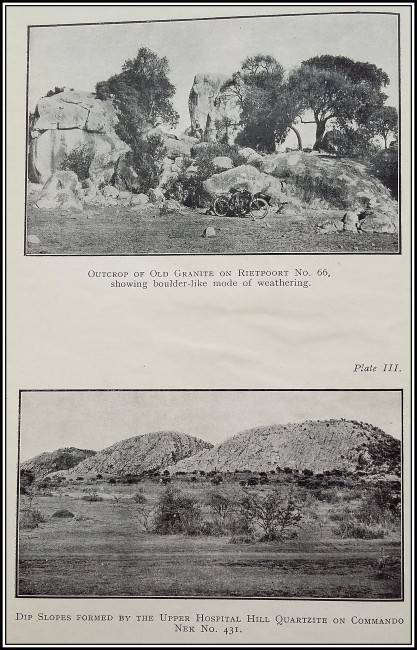 Union of South Africa. Department of Mines and Industries. The geology of the country around Vredefort (1927; 1st Edition)