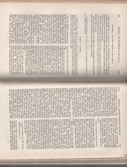 Zanzibar ; and two months in East Africa. [ Articles in Blackwood's Magazine. Volume LXXXII. January - June, 1858.]