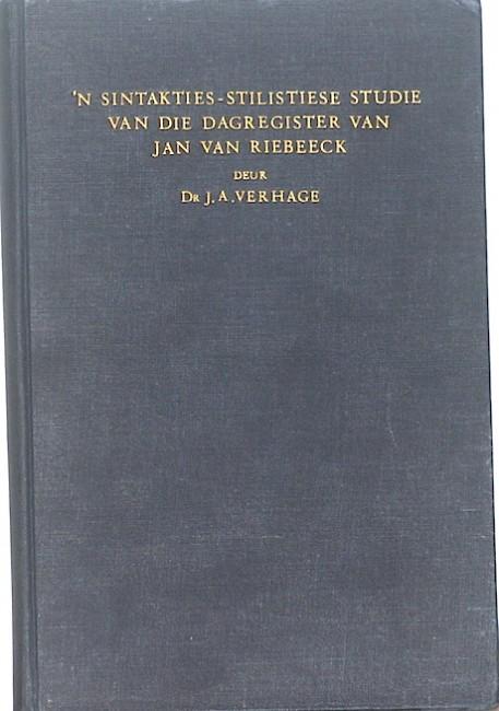 'n Sintaktiese-Stilistiese Studie van die Dagregister van Jan van Riebeeck